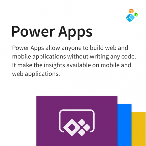 Power Apps allow anyone to build web and mobile applications without writing any code. It make the insights available on mobile and web applications.