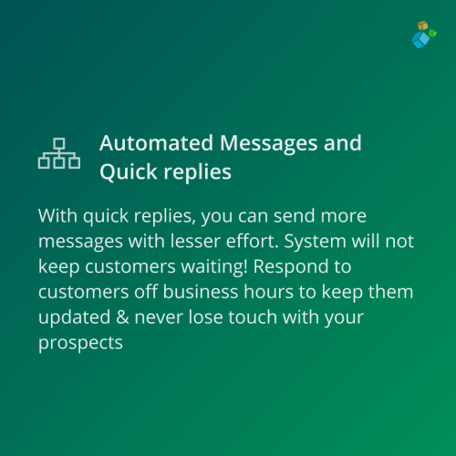 automated messages and quick replies